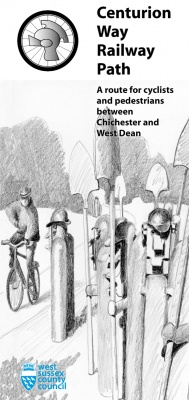Centurian Way Railway Path leaflet cover