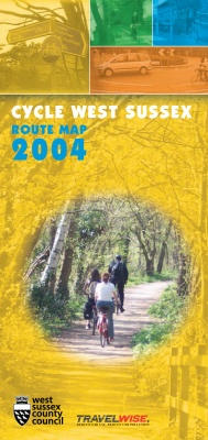 Cycle West Sussex, leaflet and map, 2004, cover