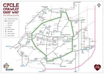 Cycle Crawley Easy Way map