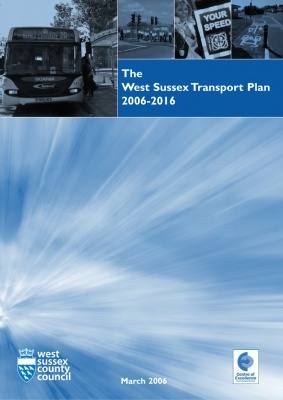 The West Sussex Transport Plan 2006-2016 (LTP2) cover