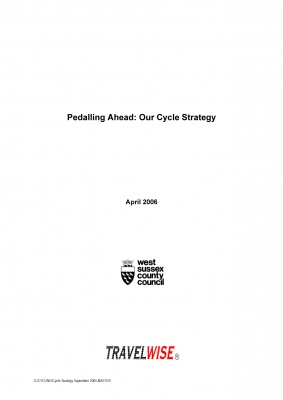 Pedalling Ahead: Cycle Strategy, cover