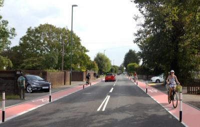 Protected cycle lanes: a vision for the Chichester/Emsworth Route
