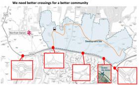 Horsham A264 crossings needed.